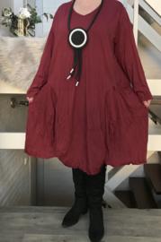 Moonshine katoen jersey asymmetrisch  A-lijn jurk apart /in meerdere kleuren