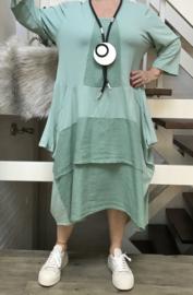 SINNE design.. A- lijn katoen jurk/in meerdere kleuren