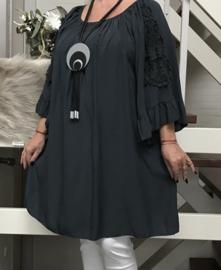 ITALIA oversized katoen blouse/tuniek