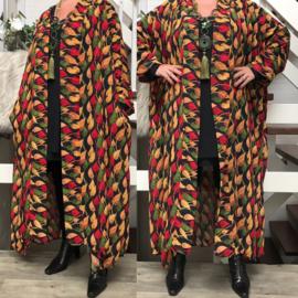 Irène oversized chiffon A-lijn blazer (extra groot) apart