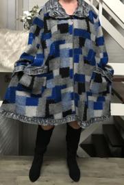 New Jersey  A-lijn jas/mantel wol/acryl (extra groot)