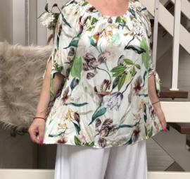 ITALIA oversized viscose  blouse/top