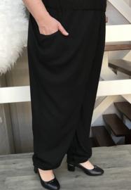 ITALIA viscose broek apart (extra groot) zwart