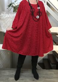 Jade oversized jersey A-lijn jurk/tuniek  met zakken apart stretch (extra groot)
