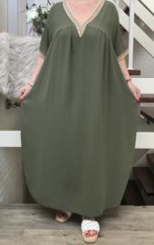 ITALIA  jurk wrap stretch /in meerdere kleuren