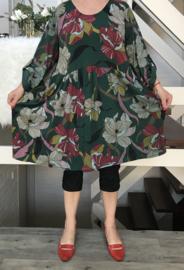 ITALIA  katoen jersey  A-lijn jurk  apart (extra groot)