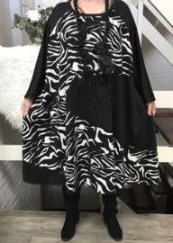 Nathalie oversized A-lijn jersey jurk apart (extra groot)