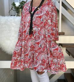Gabrielle oversized A-lijn jersey tuniek/jurk met zakken apart (extra groot)