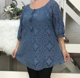 ITALIA  A-lijn kanten blouse