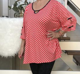 Jean Marc Philippe A-lijn strepen blouse/top / in meerdere kleuren