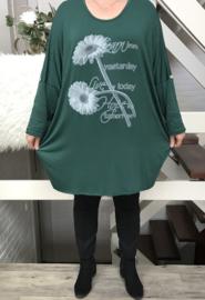 ITALIA  jersey oversized viscose tuniek /in meerdere kleuren