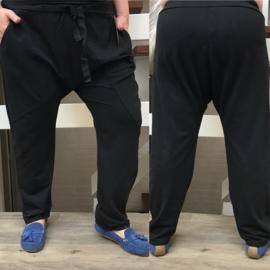 ITALIA jersey katoen baggy joggingbroek zwart