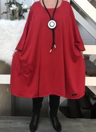 Carla oversized A-lijn jersey jurk apart (extra groot)