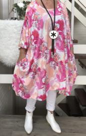 Tessa oversized A-lijn viscose jersey jurk/tuniek met zakken apart (extra groot)