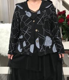 Moonshine oversized tricot vest  met capuchon apart