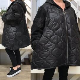 Moonshine gevoerde mantel/jas  (met capuchon zwart