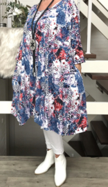 Estelle oversized A-lijn jersey jurk/tuniek met zakken apart (extra groot)