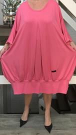 Gabi oversized A-lijn jersey jurk apart (extra groot)