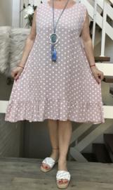 ITALIA viscose A-lijn jurk  /in meerdere kleuren