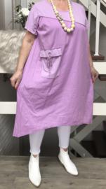 ITALIA katoen  A-lijn jurk /in meerdere kleuren