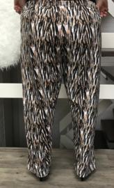 ITALIA jersey katoen print legging (extra groot)
