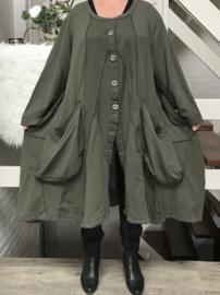 Moonshine blazer/jas  (extra groot) legergroen