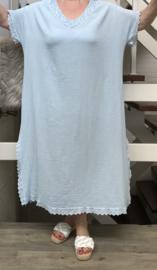 ITALIA de modieuze kleuring oversized katoen jurk/wrap/in meerdere kleuren