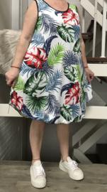 ITALIA viscose A-lijn jurk stretch