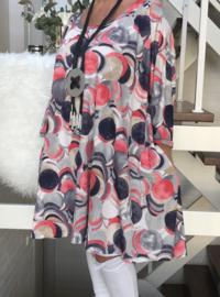 Ursula oversized A-lijn jersey tuniek/jurk met zakken apart (extra groot)