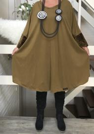 Nathalie   oversized A-lijn jurk apart (extra groot)