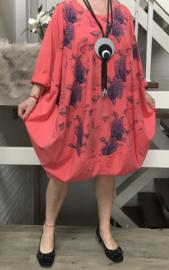 ITALIA LF katoen oversized ballon jurk stretch/in meerdere kleuren