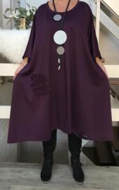 Denice oversized A-lijn viscose jersey  jurk apart (extra groot)stretch