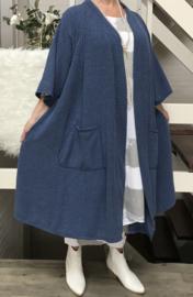 Megan oversized A-lijn jersey blazer/jas  (extra groot)  apart