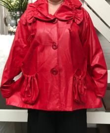 Moonshine oversized zachte eco leder korte jas apart ( extra groot) gevoerd