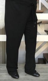 ITALIA jersey  katoen joggingbroek zwart ( extra groot)