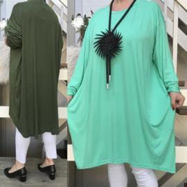 SEEMORE viscose tricot  tuniek/jurk /in meerdere kleuren