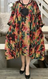 Zeta oversized A-lijn luchtige viscose jurk met zakken apart (extra groot)
