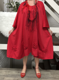 Mary oversized A-lijn jersey jurk/tuniek apart (extra groot)