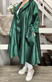 Felicia oversized A-lijn Taft blazer/vest met zakken  (extra groot)  apart