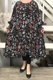 Vincenzo Allocca viscose  A-lijn jurk met inzet van tule