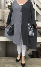 KEKOO design strepen blazer/tuniek/hemd  /in meerdere kleuren