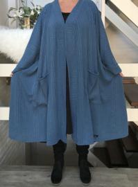 Claire oversized A-lijn jersey blazer/jas  (extra groot)  apart