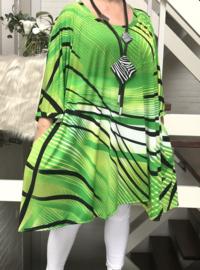 Camilla oversized A-lijn jersey tuniek/jurk met zakken apart (extra groot)