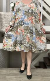 Zara oversized A-lijn luchtige viscose jurk met zakken apart (extra groot)