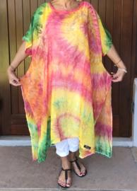 Eliza oversized A-lijn jurk/tuniek apart (extra groot)