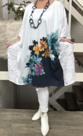 Nadia oversized poncho/tuniek met kant apart (extra groot)