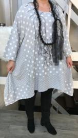 Moonshine katoen A-lijn jurk (extra groot)