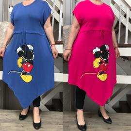 ITALIA oversized jersey viscose jurk/tuniek  /in meerdere kleuren