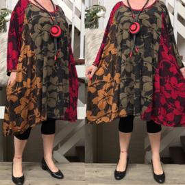 Camila2 oversized viscose jersey A-lijn tuniek/jurk met zakken apart(extra groot)stretch