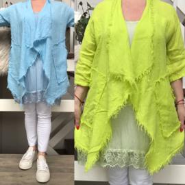 Italia linnen jurk/hemd apart/in meerdere kleuren